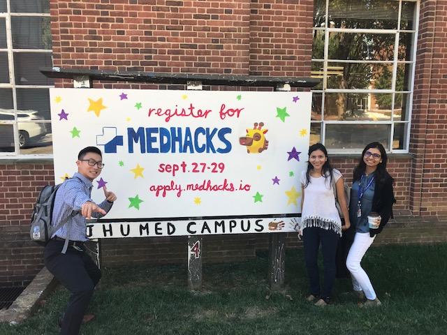DHSI graduate students contribute to MedHacks, an annual Hackathon on the undergraduate medical campus at Johns Hopkins