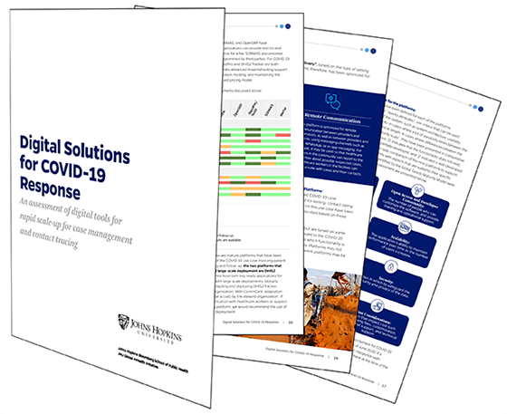 Digital Solutions for COVID-19 Response brochure illustration